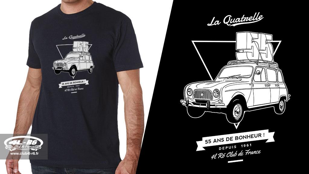 T-shirt-55-ans-Renault-4L